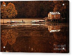 Beaver's Bend Quiet Morning Acrylic Print by Tamyra Ayles