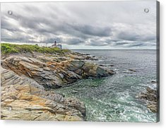 Beavertail Lighthouse On Narragansett Bay Acrylic Print