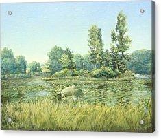 Beavor Pond Acrylic Print by Stephen Bluto