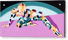 Becca 219.02 Abstract Futurist Figurative Oil Painting Acrylic Print