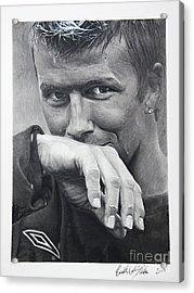 Beckham Acrylic Print by Raymond Potts