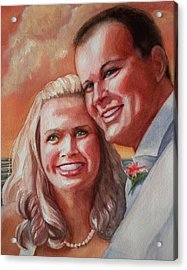 Becky And Chris Acrylic Print by Marilyn Jacobson