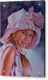 Acrylic Print featuring the painting Becky by Ann Peck