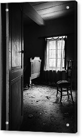 Acrylic Print featuring the photograph Bed Room Chair - Abandoned Building by Dirk Ercken
