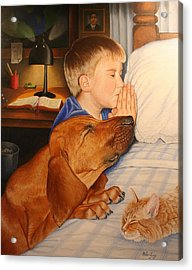 Bed Time Prayers Acrylic Print