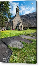 Beddgelert Church Acrylic Print by Adrian Evans