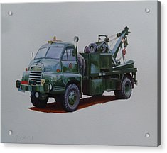 Acrylic Print featuring the painting Bedford Wrecker Afs by Mike Jeffries