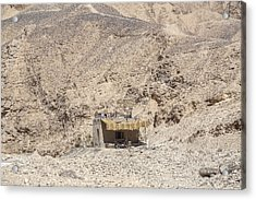 bedouin house in the desert in Egypt Acrylic Print by Joana Kruse