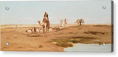 Bedouin In The Desert Acrylic Print by Frederick Goodall