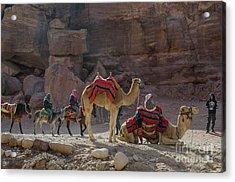 Bedouin Tribesmen, Petra Jordan Acrylic Print