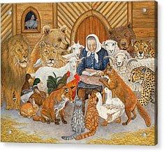 Bedtime Story On The Ark Acrylic Print