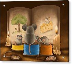 Bedtime Story Acrylic Print by Veronica Minozzi
