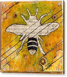 Bee Flat Acrylic Print