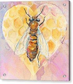 Bee Heart Acrylic Print