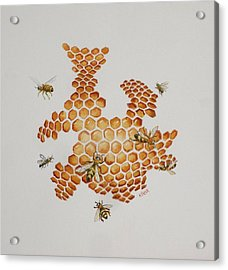 Acrylic Print featuring the painting Bee Hive # 1 by Katherine Young-Beck