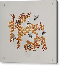 Acrylic Print featuring the painting Bee Hive # 2 by Katherine Young-Beck