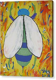 Bee Reimagined Acrylic Print by Yshua The Painter