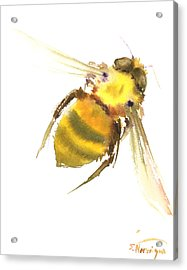 Bee Acrylic Print by Suren Nersisyan