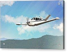 Beechcraft Bonanza V Tail Acrylic Print by John Wills