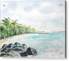 Beef Island Lagoon Acrylic Print