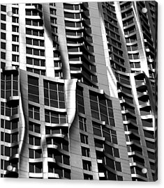Beekman Tower Detail Acrylic Print by Andrew Fare