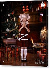 Been Good Santa Acrylic Print by Shanina Conway