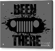 Been There In A Jeep Acrylic Print