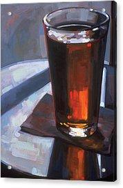 Beer At Vesuvios Acrylic Print by Penelope Moore