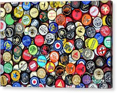 Beer Bottle Caps Acrylic Print by Tim Gainey
