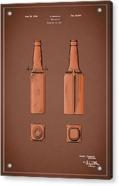 Beer Bottle Patent 1934 Acrylic Print