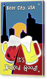 Beer City Usa Acrylic Print