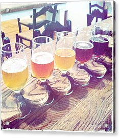 Acrylic Print featuring the photograph Beer Flight by Nina Prommer