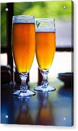 Beer Glass Acrylic Print by Sakura_chihaya+