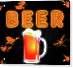 Beer Neon Sign Acrylic Print