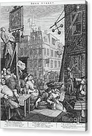Beer Street, 1751 Acrylic Print by William Hogarth