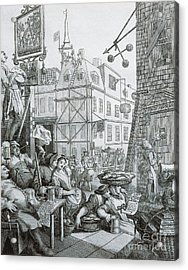 Beer Street In London Acrylic Print by William Hogarth