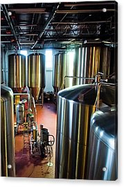 Acrylic Print featuring the photograph Beer Vats by Linda Unger