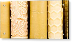 Beeswax Candles Acrylic Print by Tom Gowanlock