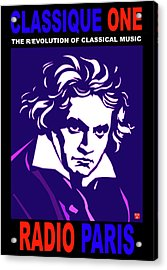 Beethoven Classique One Radio Paris  Acrylic Print