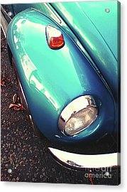 Acrylic Print featuring the photograph Beetle Blue by Rebecca Harman