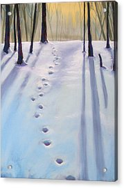 Before Dusk In Deep Snow Acrylic Print by Christine Camp