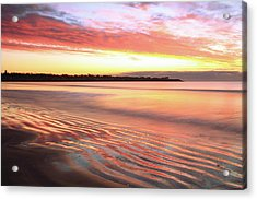 Before Sunrise At First Beach Acrylic Print by Roupen  Baker