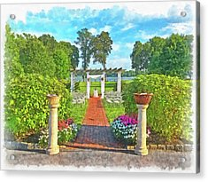 Acrylic Print featuring the digital art Before The Ceremony Begins by Digital Photographic Arts