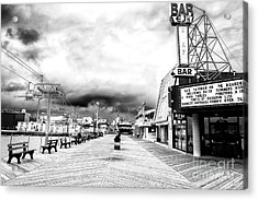 Before The Crowds At Seaside Heights Acrylic Print