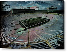 Before The Game At Lambeau Acrylic Print