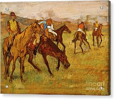 Before The Race, Edgar Degas, Maximum Digital Resolution Acrylic Print by Thomas Pollart