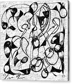 Befuddled Acrylic Print by Iris Fletcher
