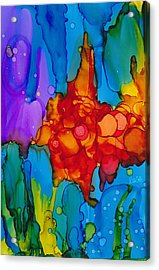 Acrylic Print featuring the painting Beginnings Abstract by Nikki Marie Smith
