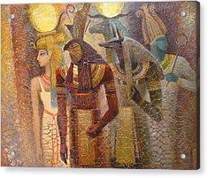 Beginnings. Gods Of Ancient Egypt Acrylic Print by Valentina Kondrashova