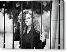 Behind Bars, Paris Acrylic Print